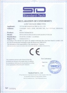CE certificate BYC07